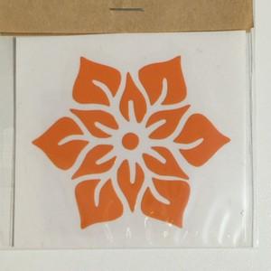 ステッカー フラワーの花*4.8×5.5cm