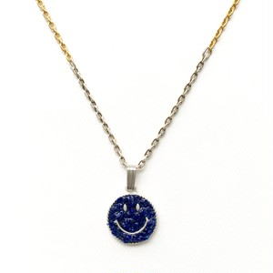 amp japan/Crushed Stone Smile Top with Dichromatic Chain -Lapis-