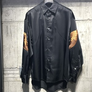 【CHRISTIAN DADA】Feather Embroidery Satin Shirt