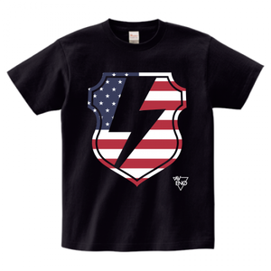 avenomix / THUNDER EMBLEM T-SHIRT BLACK x USA