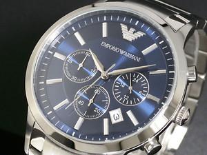 エンポリオ アルマーニ EMPORIO ARMANI メンズ クロノ 腕時計 AR2448 ブルー