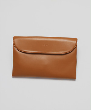 3Way Neo Smooth Leather Clutch Bag [Beige]