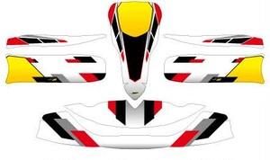 レーシングカート用 カウルステッカー M6用 A 特注品