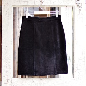 Suede Leather Skirt / スウェード レザー スカート
