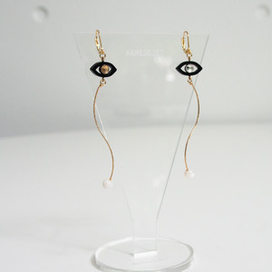 Namida no Ato Pierces / Earrings -black-