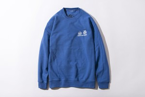 CRASTYdesCROWN CREW SWEAT (BLUE XL size)