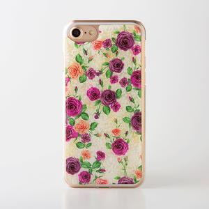 iPhoneXS/XSmax対応★iPhone/Xperia/Galaxy スマホケース(ロマンティックローズ)[螺鈿アート・天然貝ケース]