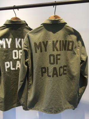 "Frederick ""MY KIND OF PLACE""USED MILITARY SHIRT"