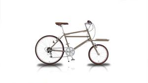 24インチカーゴバイク 6段変速付き Nicot (ベージュ)