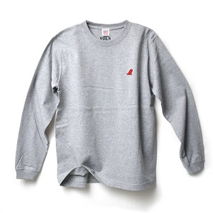 RED FIN HEAVY WEIGHT L/S T-SHIRT - GRAY