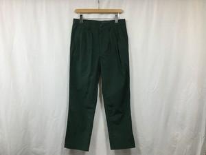 "semoh""3tuck nylon tapered pants green"""