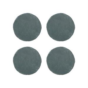 """【A215-39】Stone coaster """"Round"""" 4pcs/set コースター / 天然石 / ナチュラル / ヴィンテージ"""