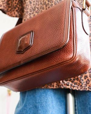 CELINE brown shoulder bag