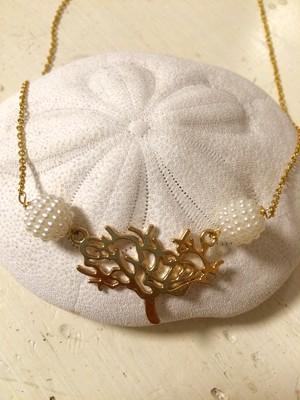 珊瑚チャーム パール