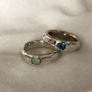 〈unisex〉Silver925 handmade stone ring 0184