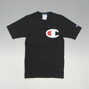 【メール便全国送料無料】CHAMPION チャンピオン 海外企画 日本未発売 デカロゴ Tシャツ ブラック