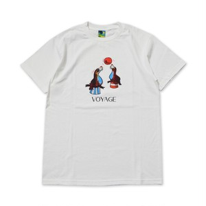 VOYAGE UTOPIA / SEA LION T-SHIRT -WHITE-