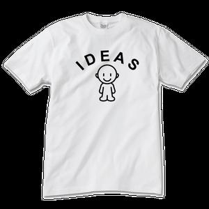 IDEAS/エンブレムTシャツ 101U-WH-クールネック