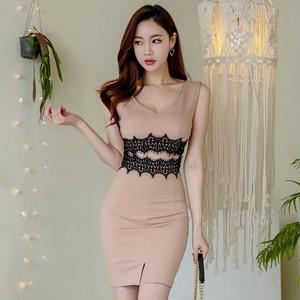 【dress】目立つ美ラインミニ丈セクシーワンピース