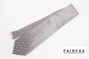 フェアファックス|FAIRFAX|ドット柄シルクネクタイ|グレイ
