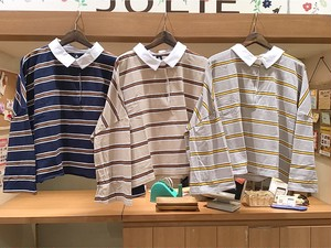 merlot ボーダーラガーシャツ(939130032548)