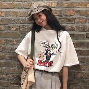 【トップス】超人気cec新作可愛いカートゥーン快適なbfTシャツ