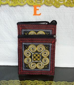 ベトナム雑貨PhiPhi・ハンドメイド・小物入れ・スマホ・iphone対応3ファスナーポケットポーチ
