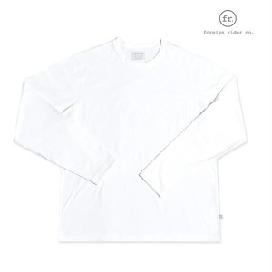 foreign rider(フォーリンライダー) long sleeve t-shirt/ロングスリーブTシャツ/カラー:WHITE【frwhtls-white】