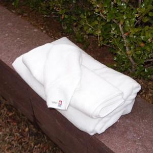 【今治タオル/片面シャーリング(白色)】米国産オーガニックハンドタオル