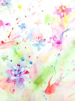 ◯ Flower Revolution 〜時間を外した日 { 水彩画 ART }