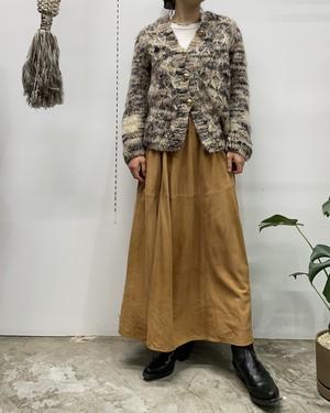 BANANA REPUBLIC suède maxi flare skirt 【8】