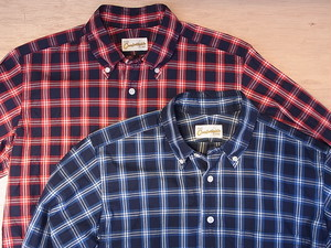 THE Comfortable TIME / BD SHIRTS / INDIGO CHECK