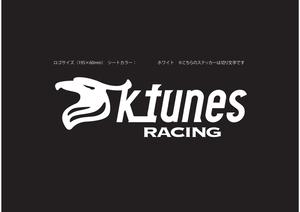K-tunes Racing チームロゴステッカー(白文字)