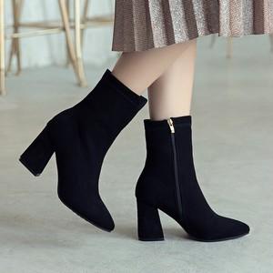 【shoes】オシャレ感満々ファスナー歩きやすいブーツ