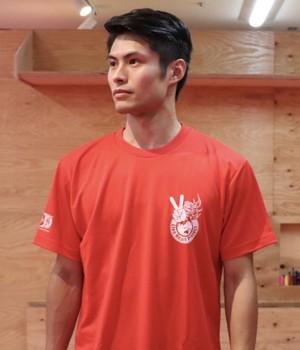 世界にピース!Tシャツ(RED・WHITE)