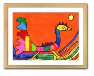 【A3額付き】七色の鳥