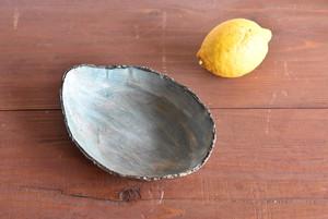 「青い風」楕円鉢