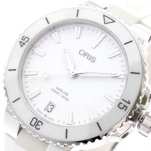 オリス ORIS 腕時計 レディース 73377314151R AQUIS 自動巻き ホワイト ホワイト