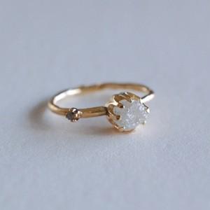 ダイヤモンド原石K18リング [01062]