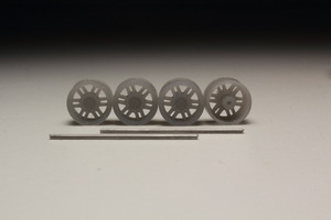 8.5mm TRD ALY69574 タイプ 3Dプリント ホイール 1/64 未塗装