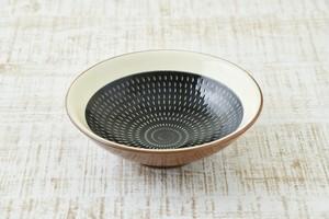 五寸鉢  (黒呉須)