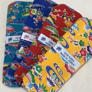 【送料無料】琉球の風 紅型ひし形布ライナー4枚SET