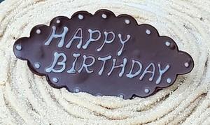 Veganチョコプレート『HAPPY BIRTHDAY』 約8cm