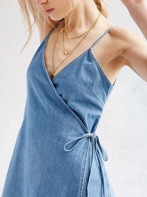 Denim one-piece(short)