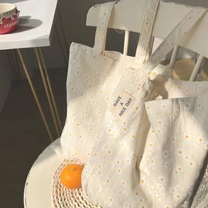 デイジー刺繍ナチュラルバッグ U5902