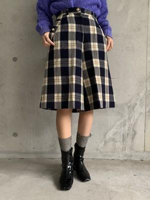 (TOYO) check pattern shorts