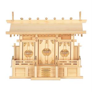 通し屋根三社・大(ひのき)P06-37