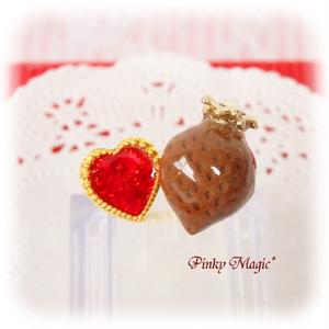 マジカルストロベリーフォークリング*チョコイチゴ×赤♡