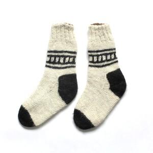 ペルー アルパカ手編みくつ下 uno
