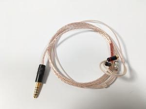 8本編み4.4mm5poleーMMCX リケーブル(AM-8445TA-MMCX)
